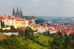 Замок Праги и маленький квартал, чехия Стоковая Фотография RF