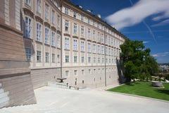 Замок Праги и сад рая Стоковые Изображения