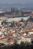 Замок Праги и собор St Vitus стоковые изображения