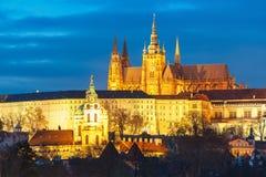 Замок Праги и Mala Strana, чехия Стоковое Изображение RF