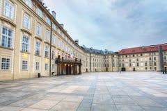 Замок Праги крытый Стоковые Фото