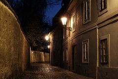 Замок Праги - новый мир стоковые фото