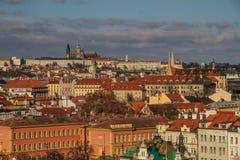 Замок Праги от Vysehrad-Праги, чехии Стоковое Изображение