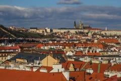 Замок Праги от Vysehrad-Праги, чехии Стоковая Фотография RF