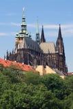 Замок Праги - собор St. Vitus стоковые фотографии rf