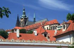 Замок Праги - собор Vitus Святого стоковые изображения