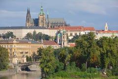Замок Праги (hrad Pražský) в Праге Стоковые Изображения