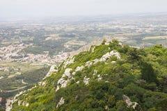 Замок причаливает dos Mouros Castelo, Sintra Стоковые Фотографии RF
