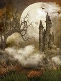 замок пугающий Стоковые Изображения RF