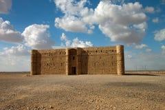 Замок пустыни Kaharana в Иордане стоковая фотография rf