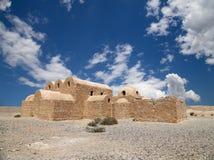 Замок пустыни Quseir (Qasr) Amra около Аммана, Джордана Стоковое фото RF