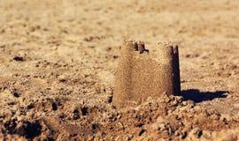 замок пляжа сделал песок изваять форму Стоковое Фото