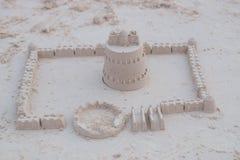 замок пляжа сделал песок изваять форму Стоковые Изображения