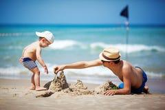 замок пляжа сделал песок изваять форму Стоковое фото RF
