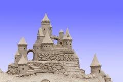 замок пляжа сделал песок изваять форму Стоковая Фотография
