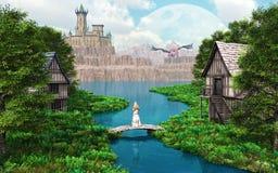 Замок дракона Стоковые Фотографии RF