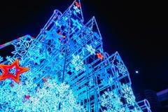 Замок рождества перед центральным универмагом мира, городом Таиландом Бангкока стоковая фотография