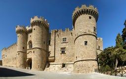 Замок рыцарей Родоса средневековый (дворец), Греция стоковое изображение