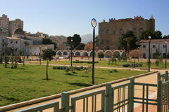 замок садовничает zisa la Стоковые Фотографии RF