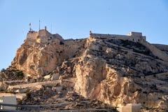 Замок Санта-Барбара в Аликанте стоковое изображение