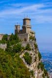 Замок Сан-Марино - Италии Стоковые Изображения RF