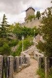 Замок Сан-Марино, Италии Стоковое фото RF