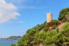 Замок Сан-Хуана, Бланес, Коста Brava, Каталония, Испания стоковые фотографии rf
