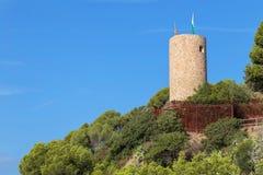 Замок Сан-Хуана, Бланес, Коста Brava, Каталония, Испания стоковое фото