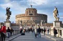 Замок Сан Angelo в Риме, Италии Стоковая Фотография