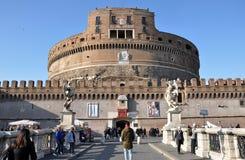 Замок Сан Angelo в Риме, Италии Стоковое Изображение