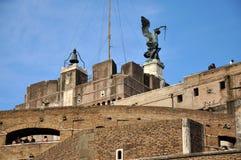 Замок Сан Angelo в Риме, Италии Стоковое фото RF