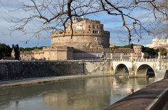 Замок Сан Angelo в Риме, Италии Стоковые Изображения RF