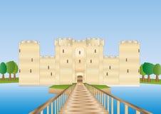 замок Сассекс bodiam Иллюстрация вектора