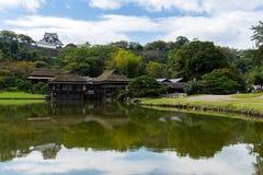 Замок сада и Hikone Стоковое фото RF