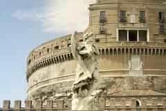Замок святого Анджела в Риме Стоковая Фотография