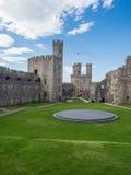 замок северный вэльс caernarfon Стоковое фото RF