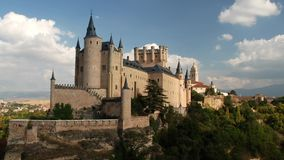 Замок Сеговии в Испании сток-видео
