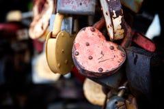 Замок сердца для любовников Стоковое Изображение RF
