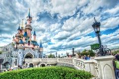 Замок сказки в Франции стоковое изображение rf