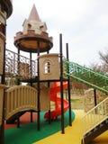 Замок спортивной площадки детей Стоковое Изображение RF