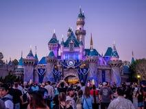 Замок спящей красавицы на Диснейленде Калифорнии Стоковое Фото