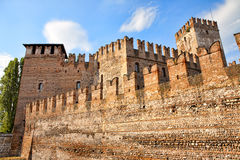 замок средневековый старый verona castelvecchio Стоковое Фото