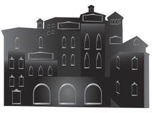 замок средневековый Иллюстрация штока