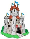 замок средневековый иллюстрация вектора
