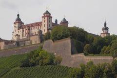 замок средневековый Rzburg ¼ WÃ, Бавария, Германия Стоковые Фото