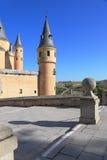 замок средневековый segovia Стоковое Изображение RF