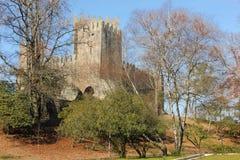 замок средневековый Guimaraes Португалия стоковые изображения rf
