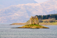 Замок Сталкера в Шотландии Стоковые Фотографии RF