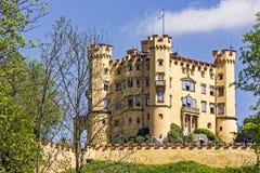 Замок столетия Hohenschwangau XIX Стоковые Изображения