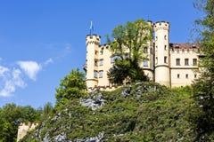 Замок столетия Hohenschwangau XIX Стоковые Фото